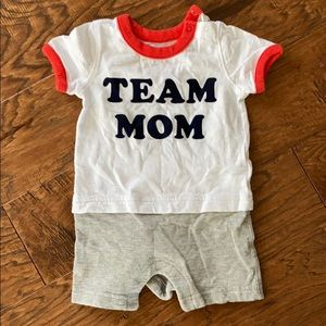 """""""Team Mom"""" one piece. Excellent condition"""